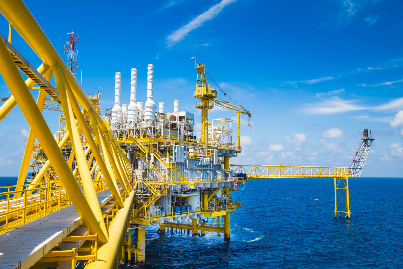 offshore gas extraction platform